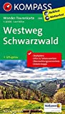 Westweg Schwarzwald: Wander-Tourenkarte. GPS-genau. 1:50000: Wandelkaart 1:50 000 (KOMPASS-Wander-Tourenkarten, Band 2505)