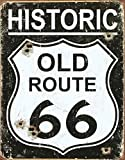 Tin Sign Nostalgie-Blechschild - Old Route 66 - Weathered 31x40cm