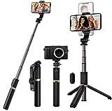 Blukar Bluetooth Selfie Stick Stativ, 4 in 1 Erweiterbar Selfiestick Monopod...