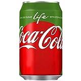 Coca-Cola Life 24x 330ml - die erste kalorienarme Cola aus natürlichen Quellen gesüßt!