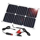 SUAOKI 12 V Solar-Auto-Batterie-Ladegerät, 18 W Erhaltungs-Solarmodul-Ladegerät, tragbar und wasserdicht, für Motorrad, Wohnmobil, Boot, Marine, Schneemobil, Traktor, ATV, Marine Anhänger