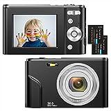 Digitalkamera 1080P HD Kompaktkamera 36 Megapixel Mini-Videokamera 2,4' LCD...