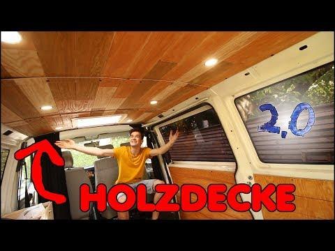 Die gemütlichste Decke aus HOLZ für den VW Bus bauen | F.04 Umbau 2.0 VW T4