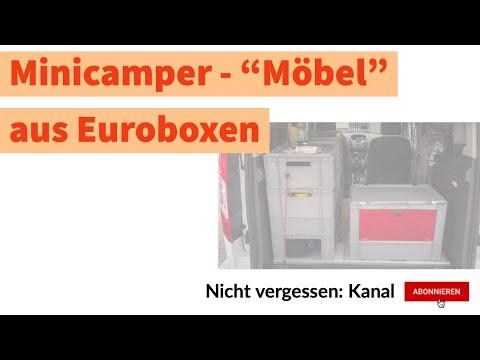 Camping: Minicamper Möbel aus Euroboxen