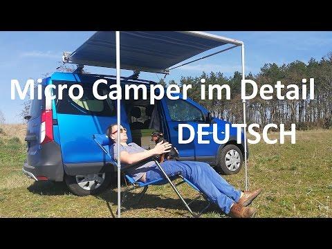 Dacia Dokker Hochdachkombi Wohnmobil Mini Camper Auto im Detail DEUTSCH + allgemeine Tipps