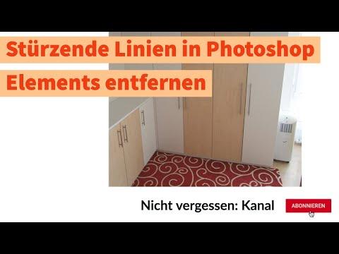 Foto: Stürzende Linien mit Photoshop Elements mit Hilfslinien und Transformation beheben