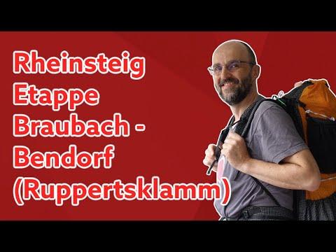 Rheinsteig [Braubach - Asterstein/Koblenz - Bendorf] 🎒 Ruppertsklamm