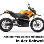 ▷ Elektro Motorrad: Anbieter in der Schweiz [Übersicht]