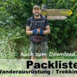 Packliste Wanderausrüstung / Trekking / Backpacking | Download