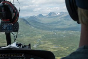 Mit dem Helikopter nach Staluluokta