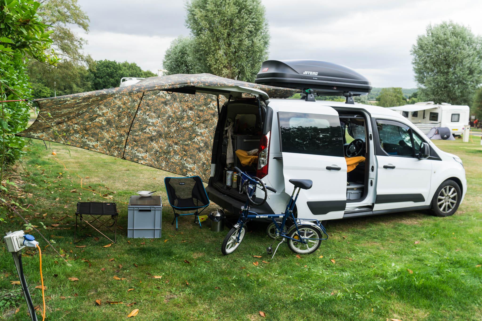 Camping mit dem Minicamper in Verwood