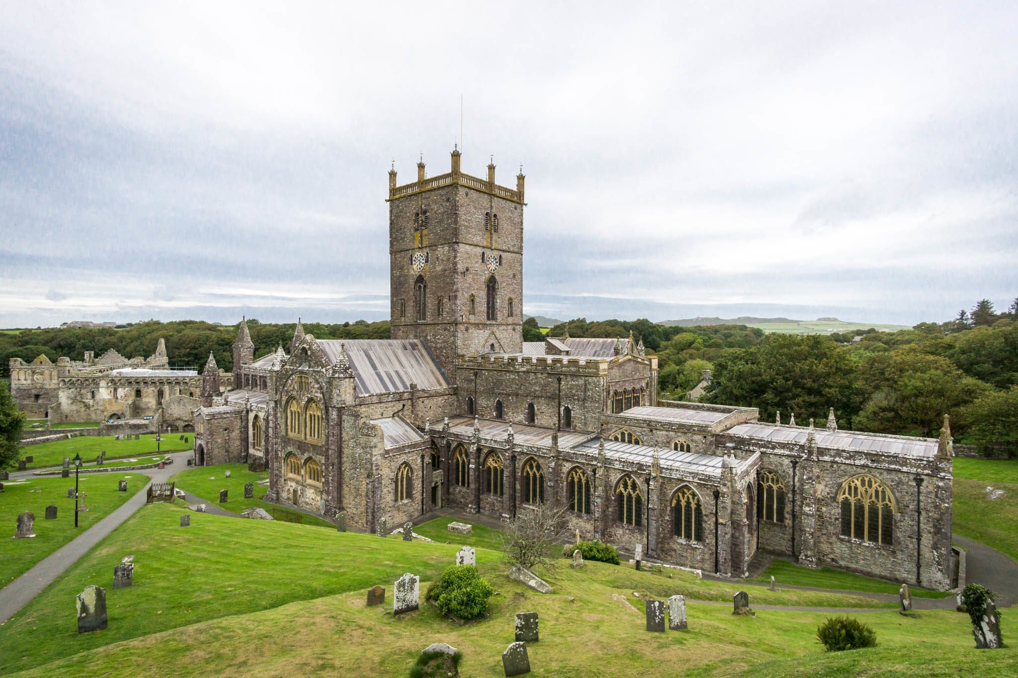 Kathedrale in St. Davids - Wales
