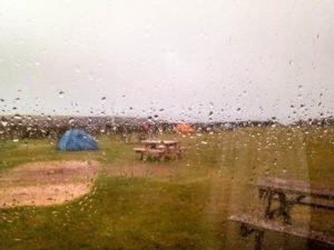 Blick aus dem Minicamper-Fenster