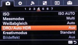 Kamera-Einstellung DRO