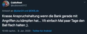 Tweet DKB