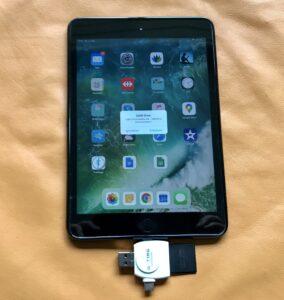 SD-Card an iOS Gerät anschliessen