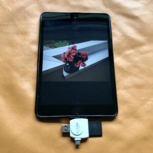 Bild von SD-Card auf iOS-Gerät auswählen